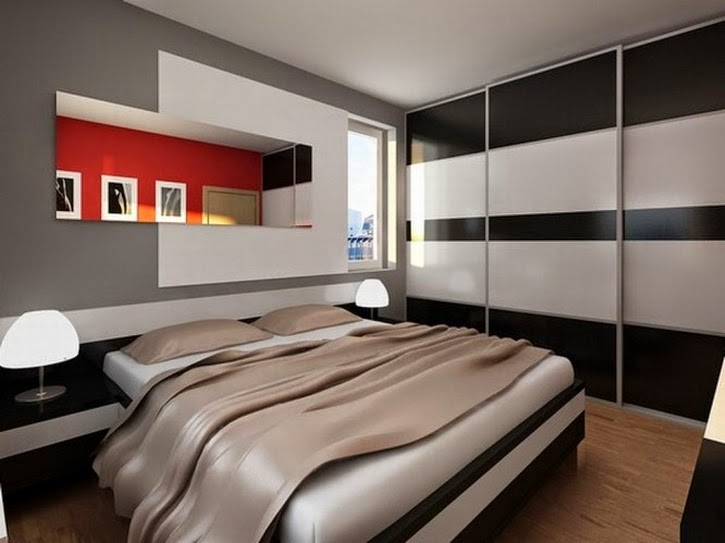 Bedroom Design Futuristic Mirror In Modern Small Bedroom Desgns 800x564