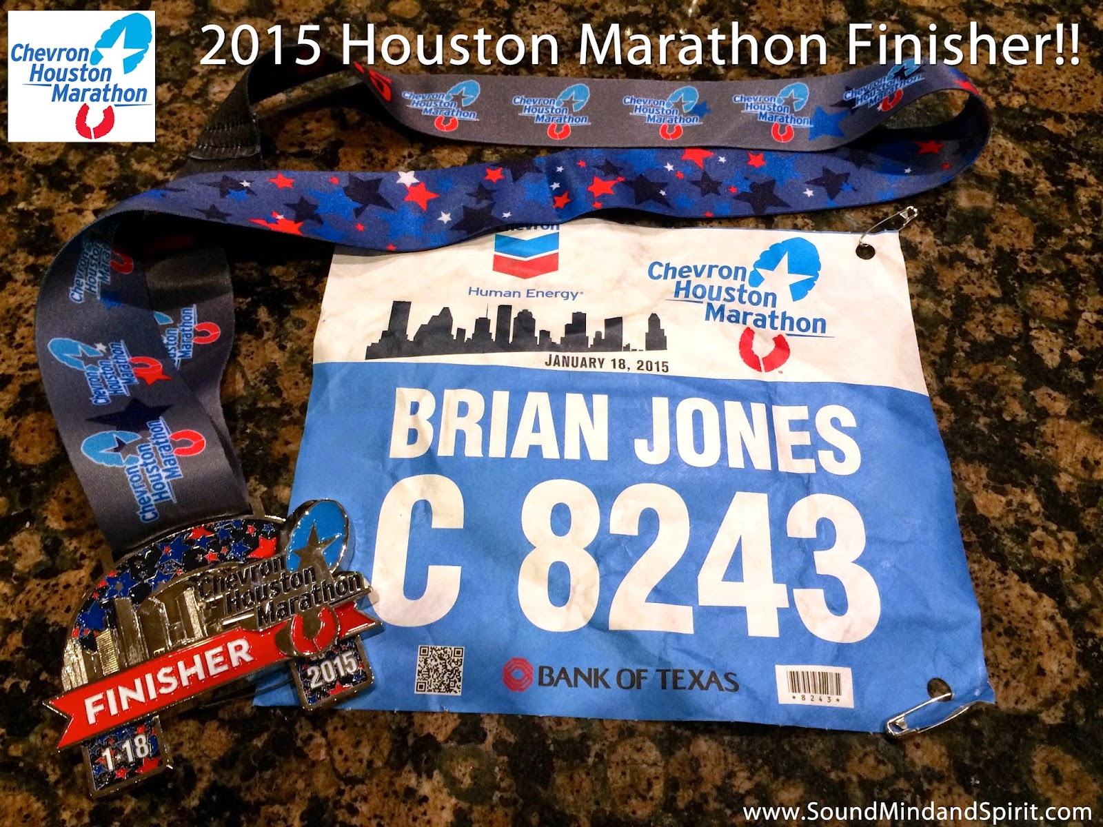 2015 Houston Marathon Finisher  -  A Chevron Houston Marathon Review