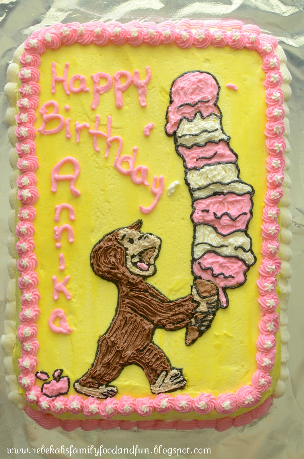 Family Food And Fun Curious George Cake
