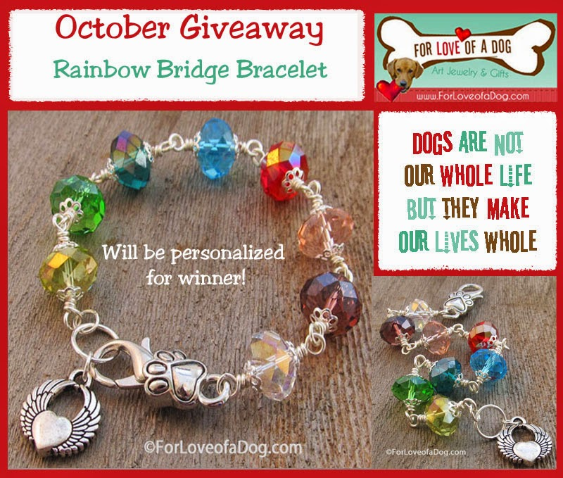 jewelry amazon memorial jack dp russell bridge sympathy pet rainbow bracelet com