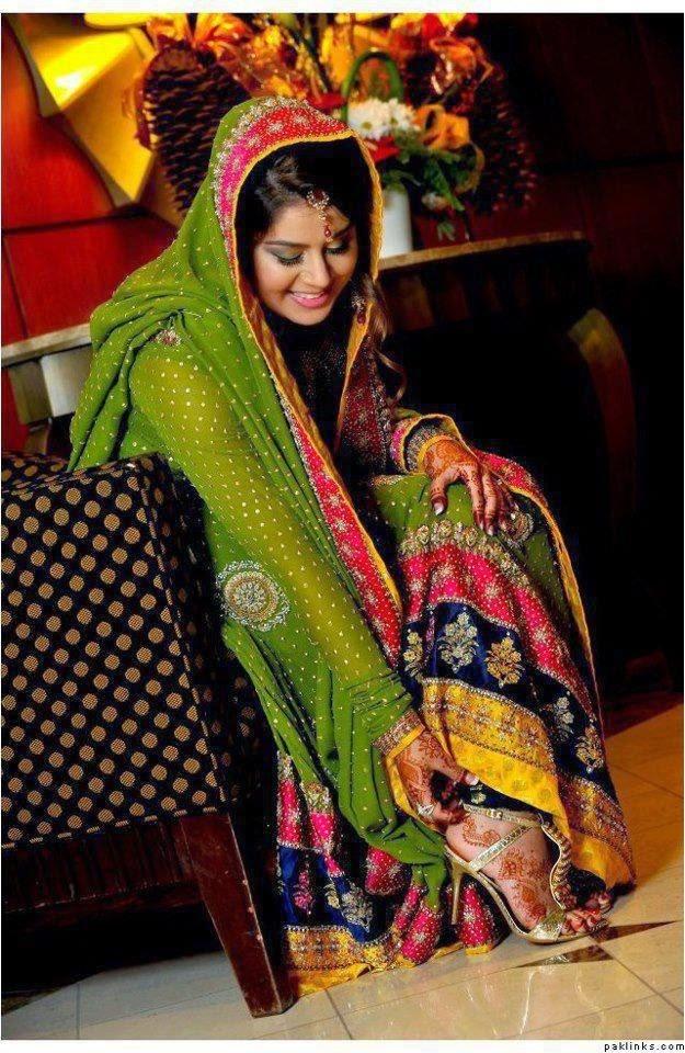 ... Embroidered & Fancy Beautiful Wedding Bridal Mehndi Dresses 2015-2016