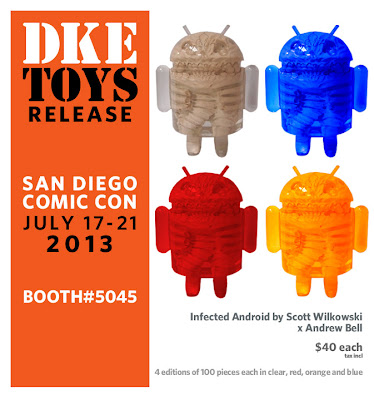 San Diego Comic-Con 2013 Exclusive Scott Wilkowski x Andrew Bell Infected Android Resin Figures - Clear, Blue, Red & Orange