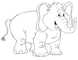 mewarnai gambar gajah untuk anak 1