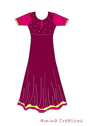 AMINA CREATIONS: HOW TO STITCH ANARKALI SUITS / SEWING BASICS