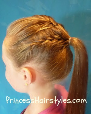 Hairstyles For Long Hair Gymnastics : Gymnastics Hair - French Braid Ponytail