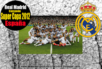Imagenes del Real Madrid: Campeon de la Super Copa 2012 (imagenes facebook )