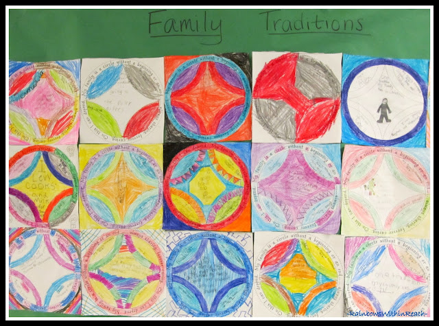 "photo of: ""Our Family Traditions"" Quilt via RainbowsWithinReach Quilt RoundUP"