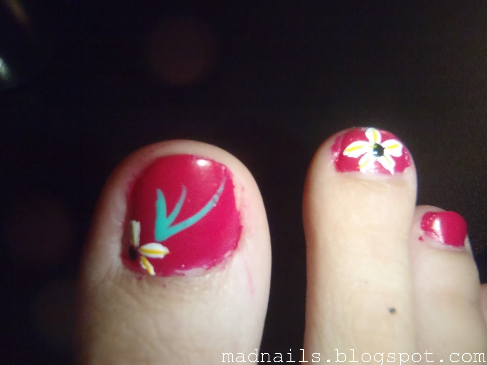 Ugly Painted Nails
