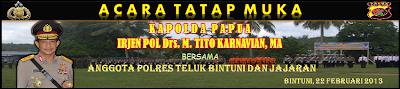 Spanduk Tatap Muka Kapolda Papua di Polres Teluk Bintuni
