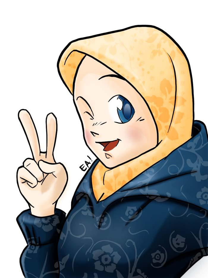 Koleksi Kartun Muslimah 6
