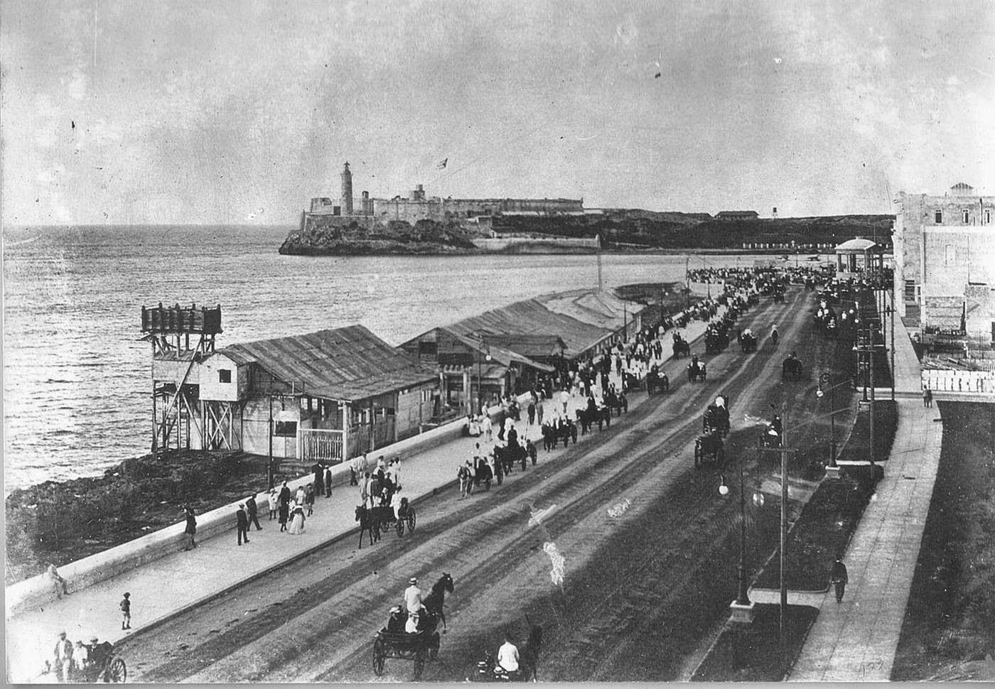 El Malecón de La Habana en 1902