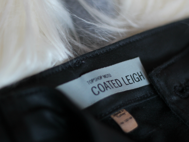 topshop, fashion, haul, winter, debenhams, fur gilet, black coated leigh jeans,