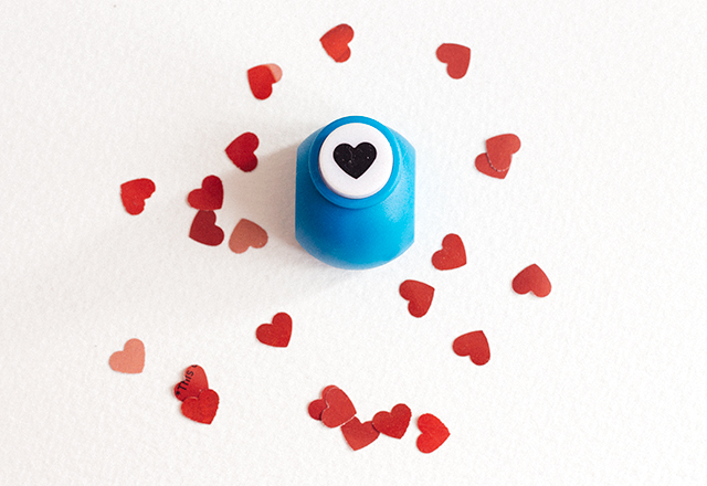 heart shaped hole punch