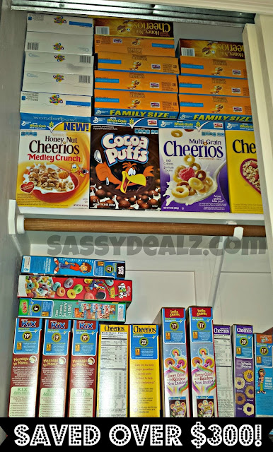 cereal couponing stockpile