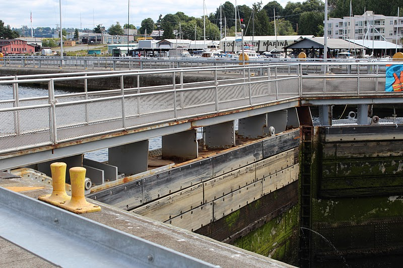 Hazardous undertakings ballard locks for Ballard locks fish ladder