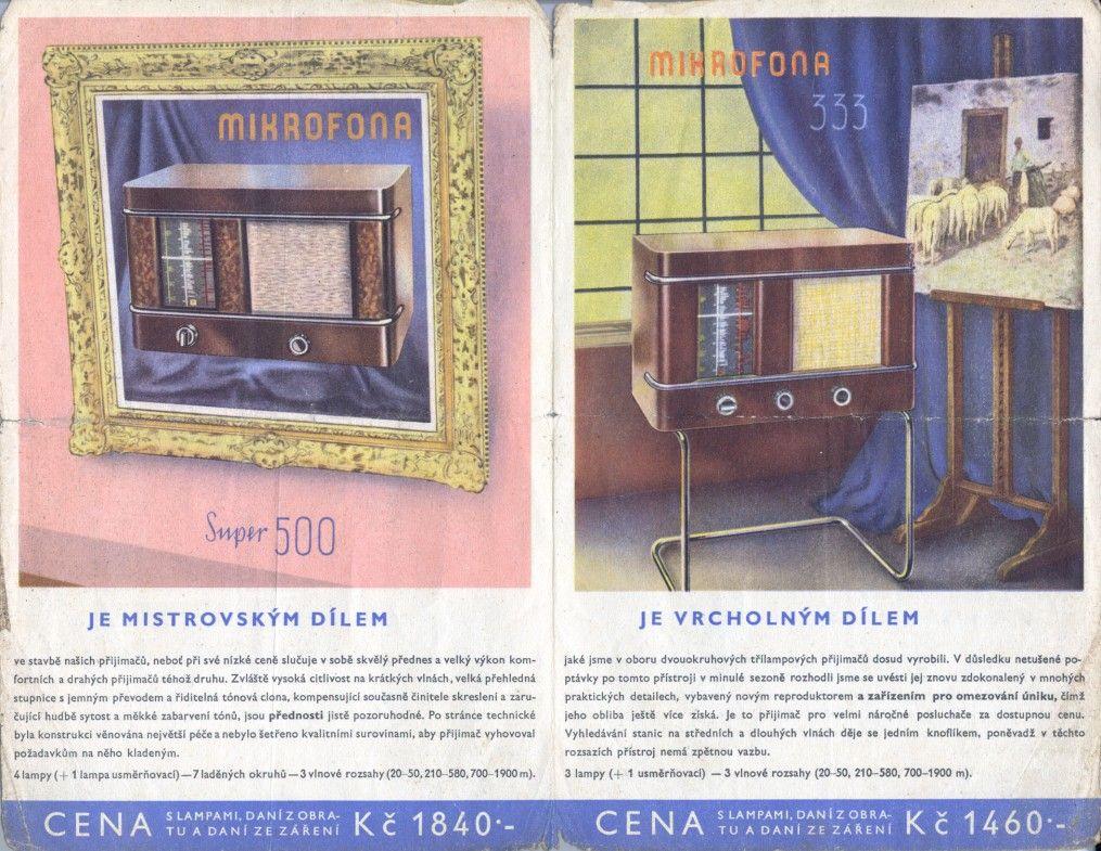 Doctor Ojiplático. Aparatos de Radio. 42 ejemplos de publicidad vintage. Mikrofona