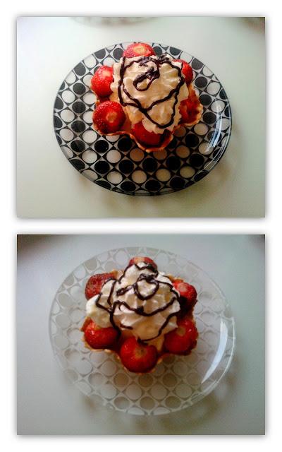 Królewskie lody z truskawkami