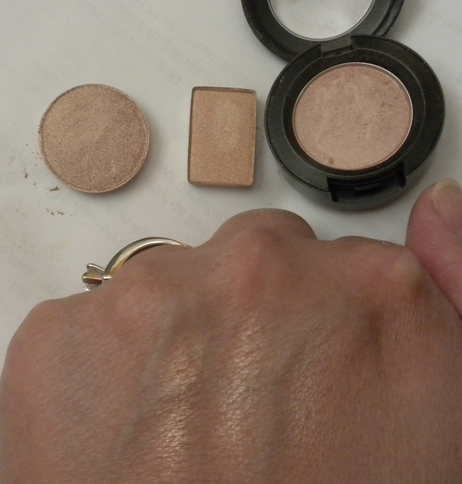 Mac All That Glitters Vs Stila Kitten