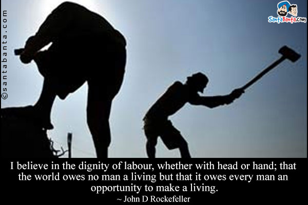 Essay on dignity of labour with quotes