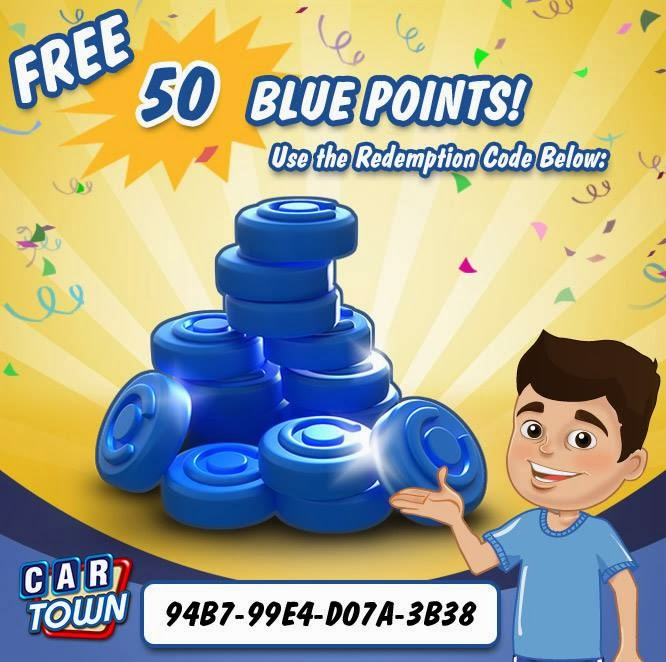 Car Town: Code Promo Car Town 50 Blue points Free