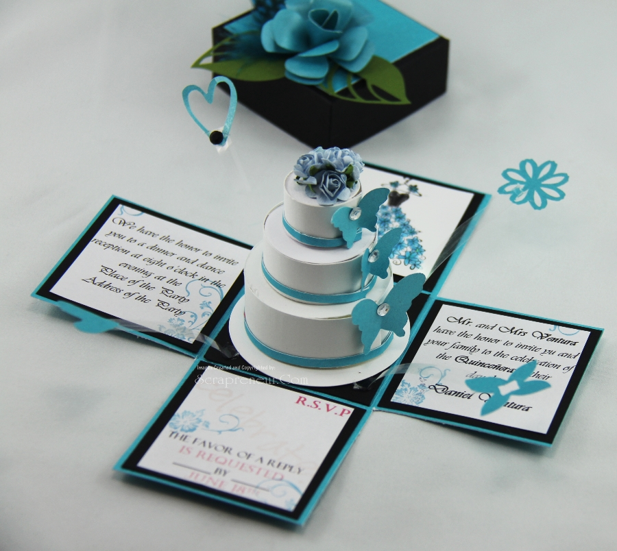 Black And Blue Wedding Invitations
