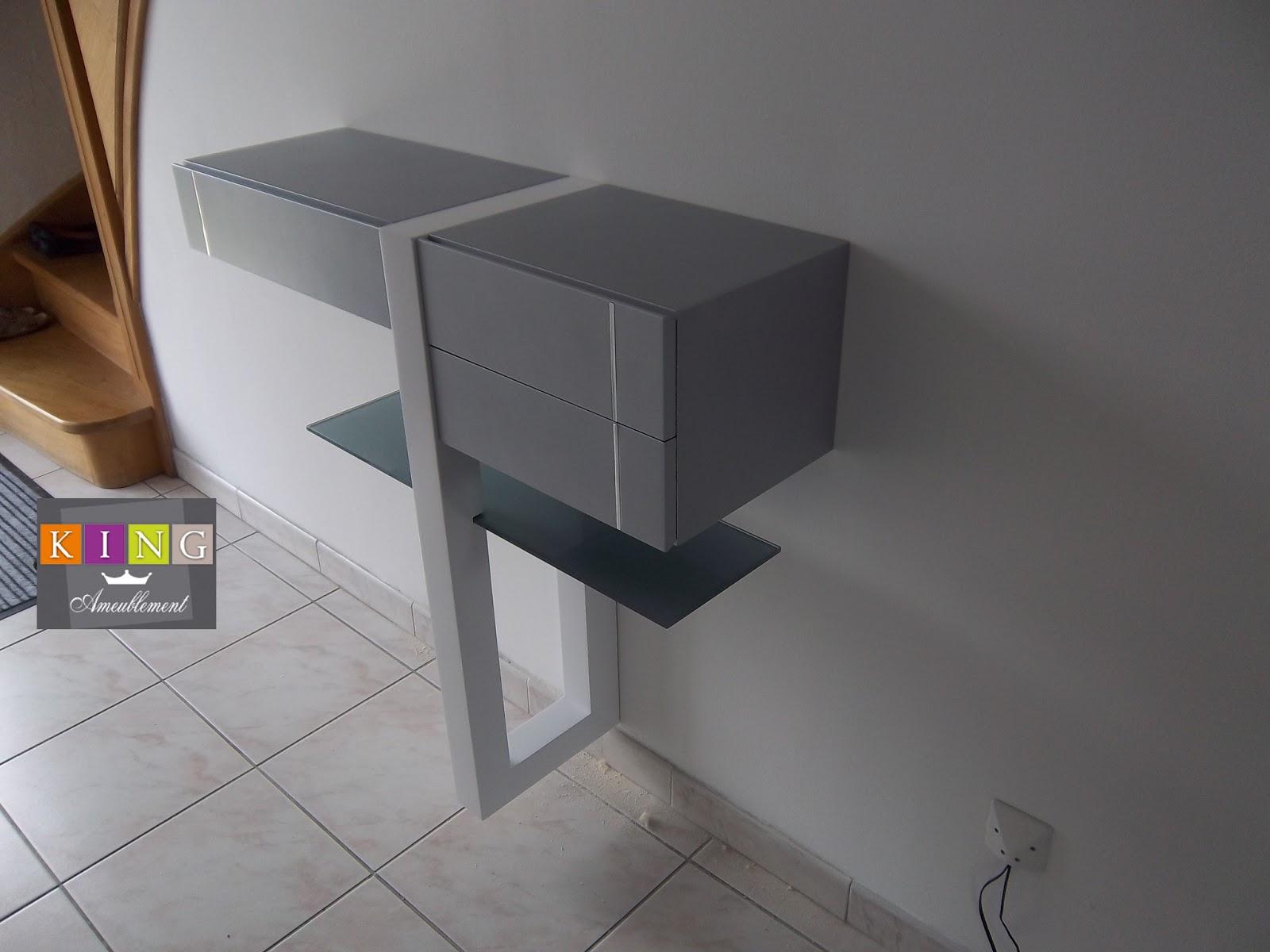 Realisations dressings cuisines salles de bains refection for Tablette laquee blanc sur mesure
