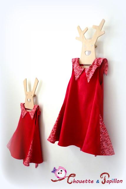 her little world robes sereine liberty mitsi valeria rouge 8ans et 4 ans