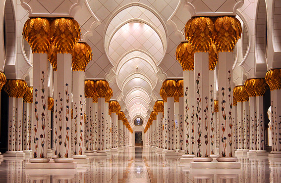 Gambar Interior Masjid Sheikh Zayed Abu Dhabi Pilar Indah