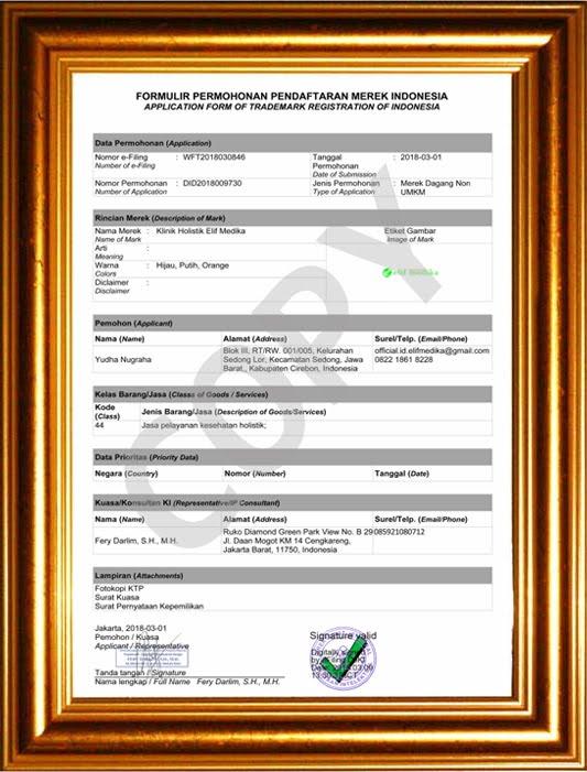 Valid Register Merek Ditjen HKI