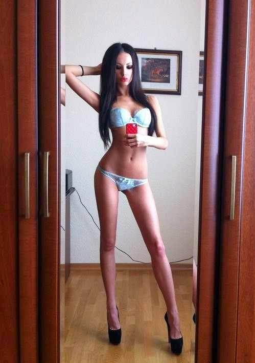 Tall skinny brunette nude think