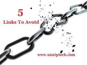 Links to avoid