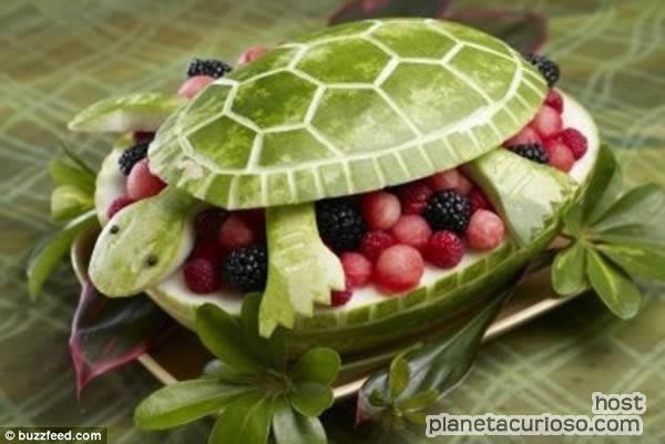 La cocina creativa: Figuras hechas con frutas :)