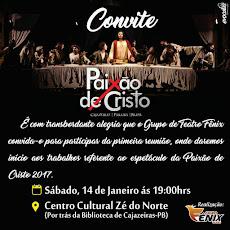 CONVITE: TEMPORADA 2017 DA PAIXÃO DE CRISTO EM CAJAZEIRAS