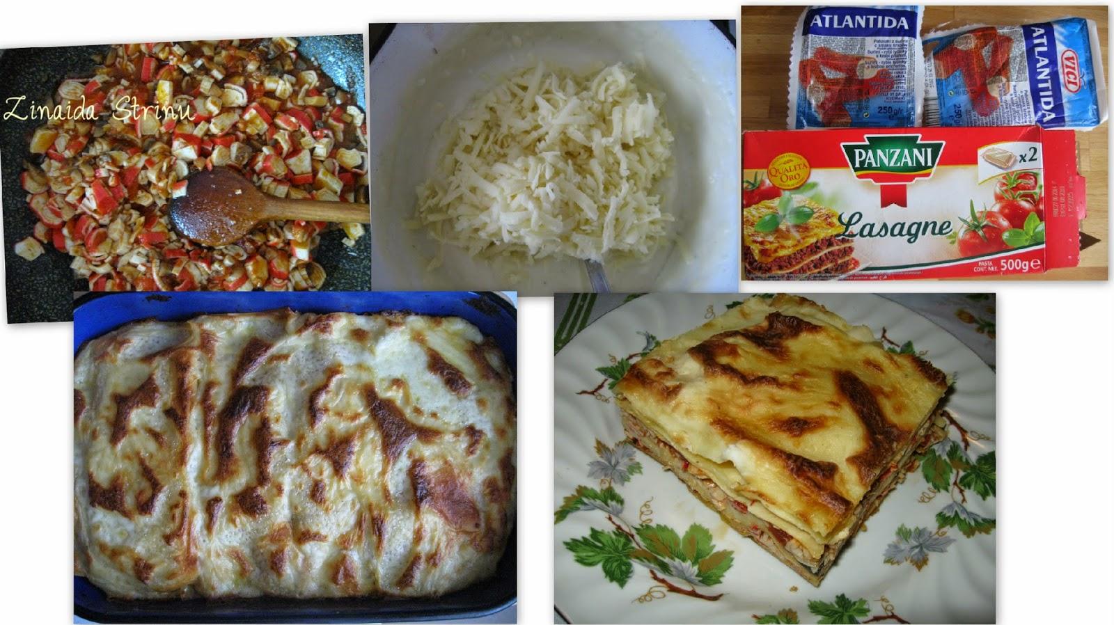lasagna -cu-surimi