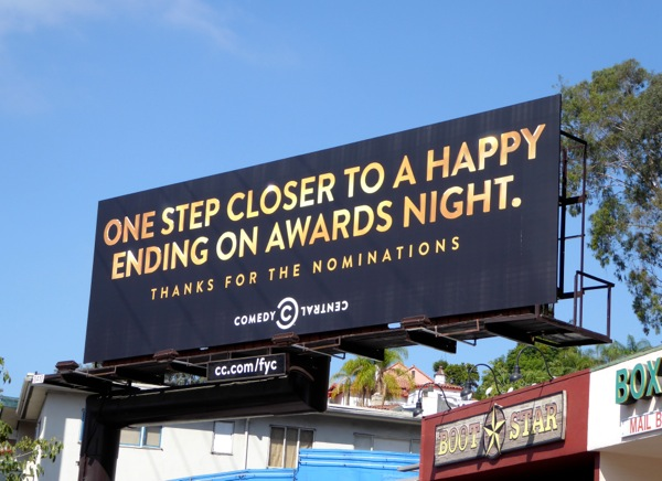 Comedy Central 2015 Emmy Happy ending billboard