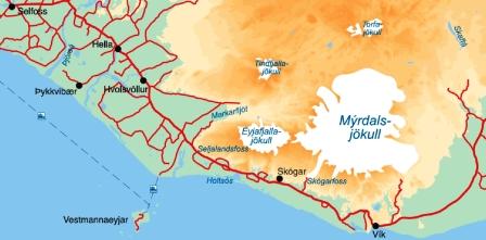 mapa cascada seljalandfoss