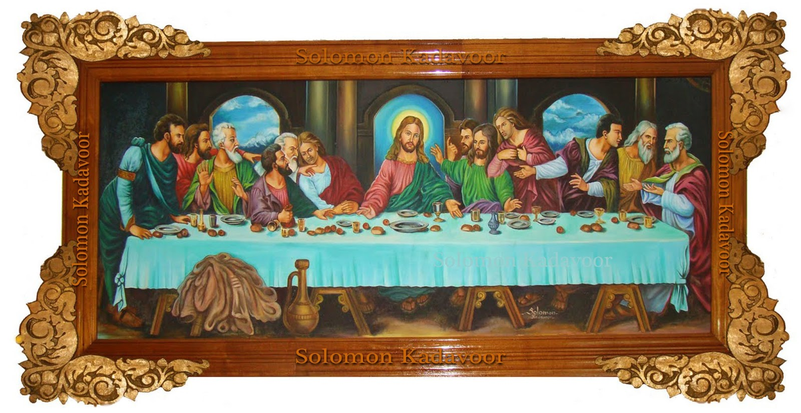 Last Supper   Artist Solomon Kadavoor Kollam Kerala, India.