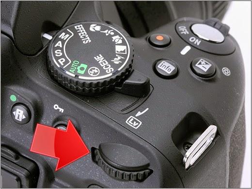 عجلة التحكم بسرعة الغالق نيكون