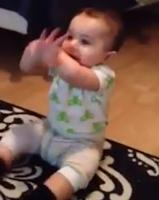 Bebê de 7 meses dança a música Gangnam Style