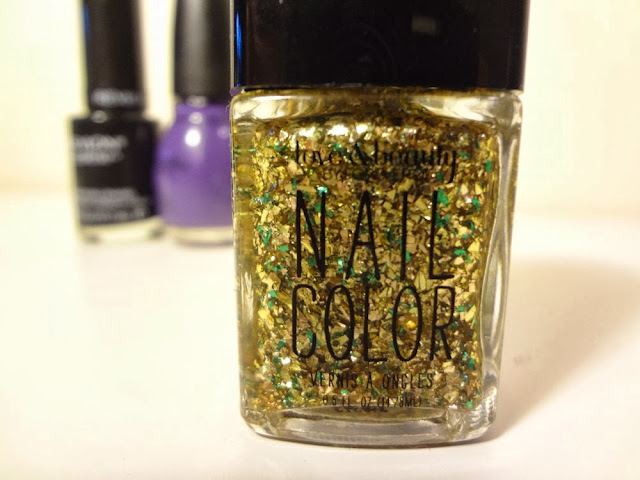 Gold and green flake nail polish, Love & Beauty, Forever21