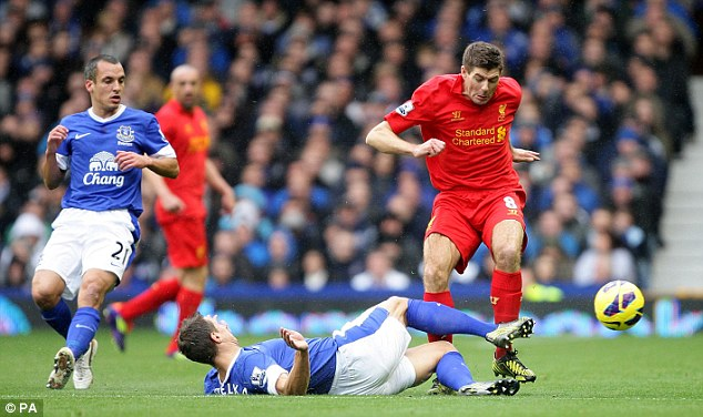 Hasil Pertandingan Everton vs Liverpool 2-2, 28 Oktober 2012