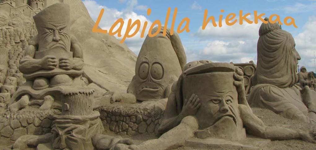 Lapiolla hiekkaa