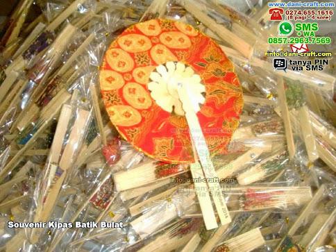 Souvenir Kipas Batik Bulat BambuBatik Gresik