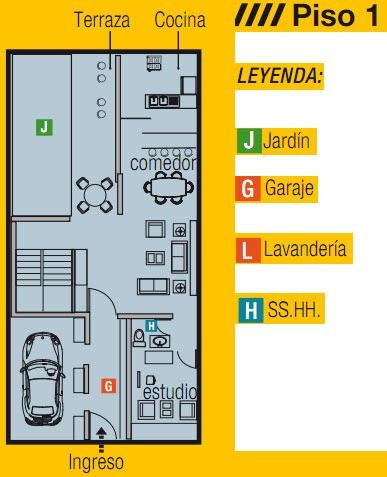 Para nuestra familia planos de casa de 8x15 de un piso for Planos de casas 8x15