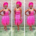 Lovely Ankara and Lace Design