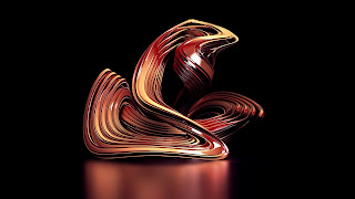 Abstract 3D Black background