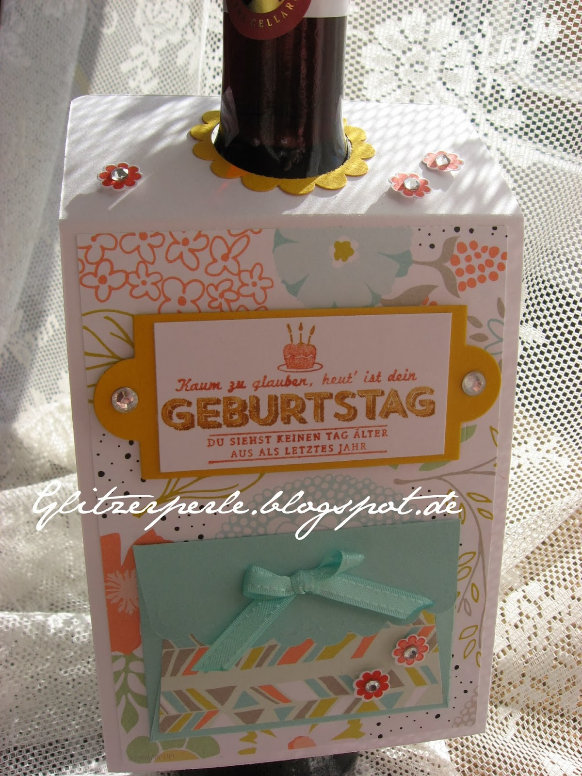 Glitzerperle Sale A Bration Weinflaschen Deko