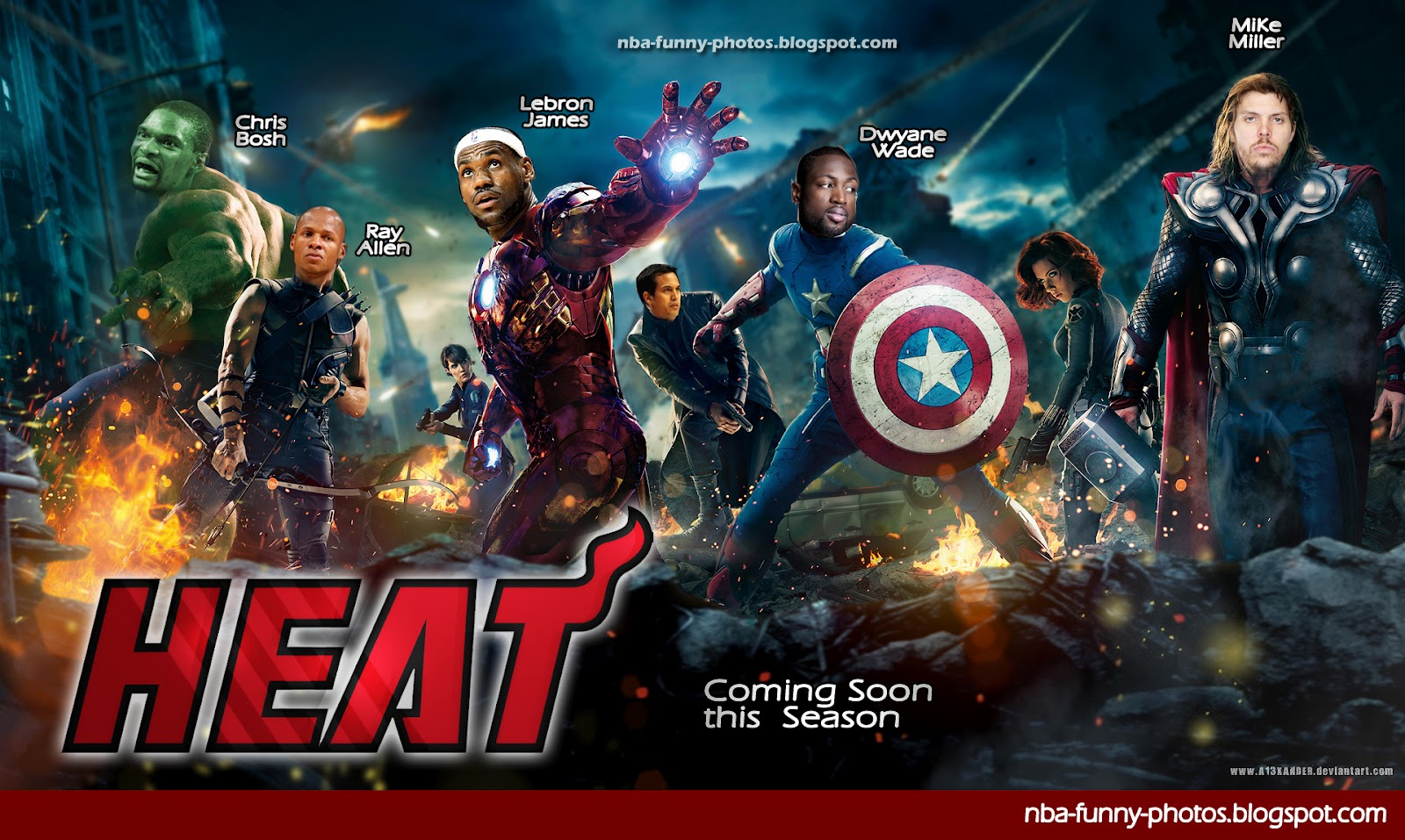 Heat Lakers Battle The Superheroes Nba Funny Moments