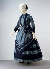 Women's dress fashion in the 1860s