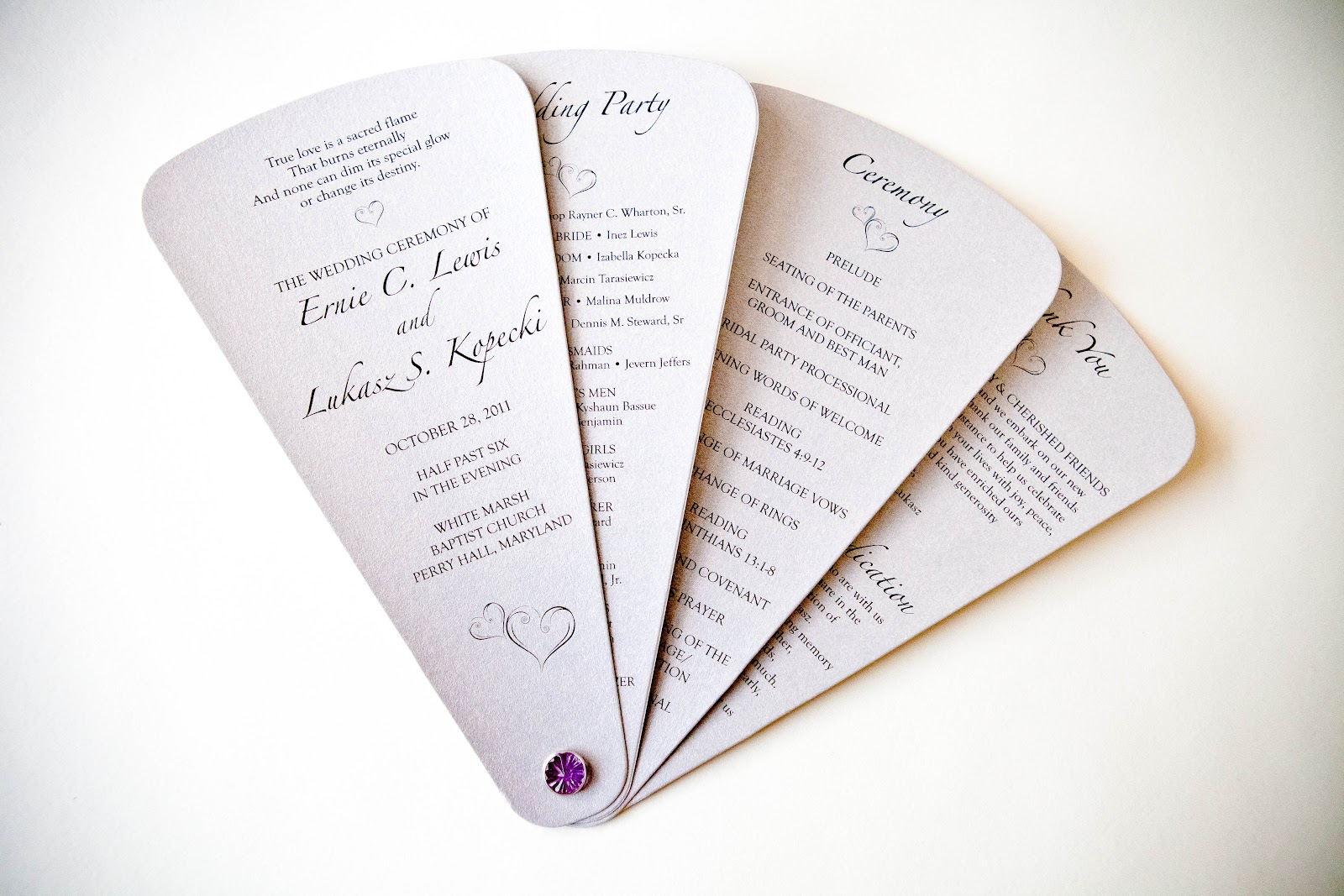 Unique Wedding Programs :: Invitations Baltimore Kindly RSVP Designs ...